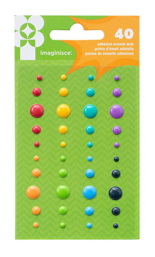 Rainbow Enamel Dots