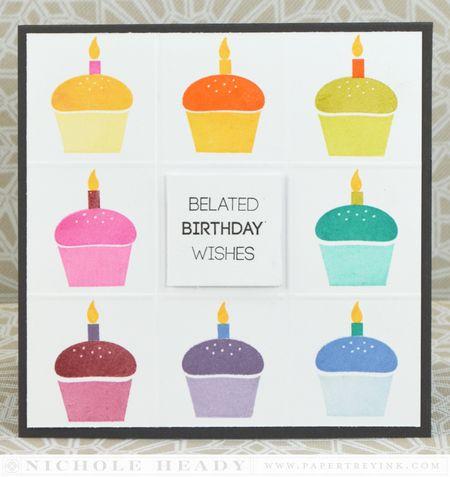 Rainbow Cupcakes Card