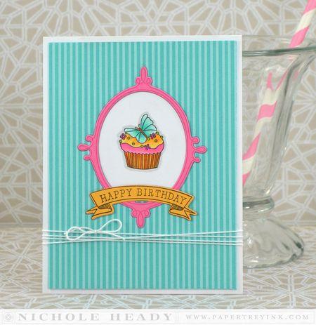 Butterfly Cupckae Card