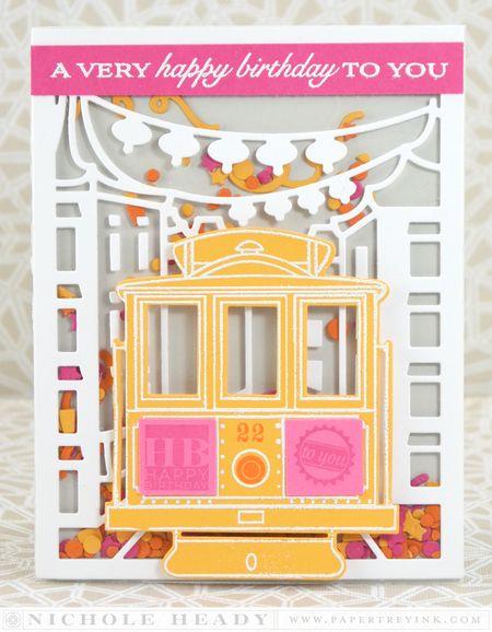 Birthday Cable Car Card