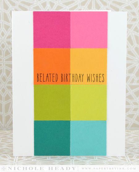 Rainbow Belated Birthday Card