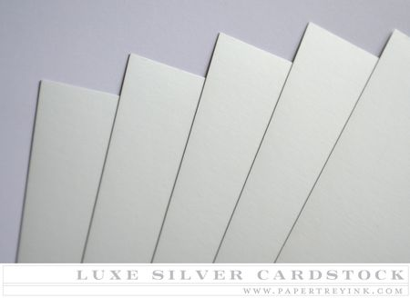 Luxe Silver Cardstock