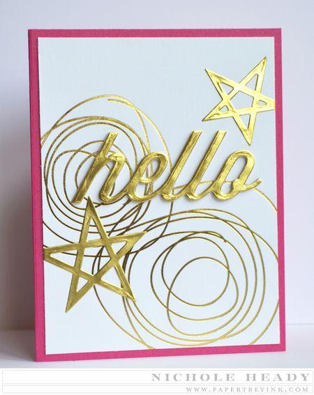 Gold Hello Card