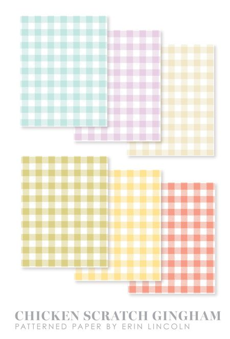 Chicken-Scratch-Gingham-Papers