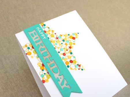 Confetti Cluster Birthday Card Close Up