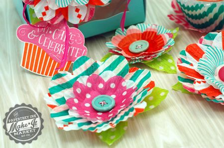Baking cup flowers