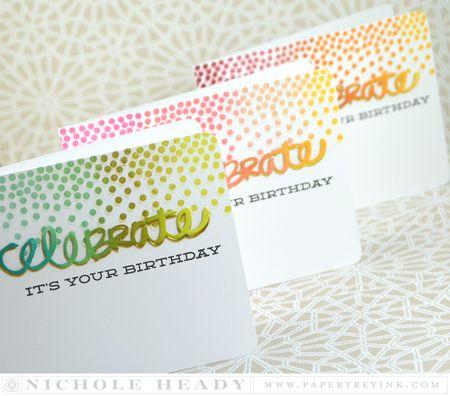 Confetti Trio Cards