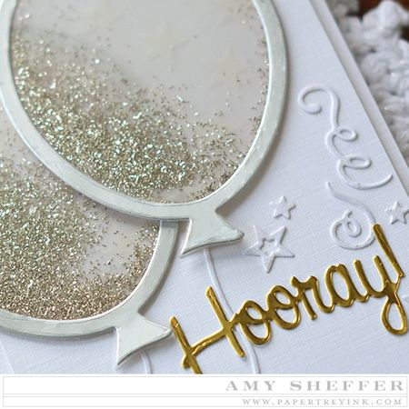 Ive Gone For The Glam With A Silver And Gold Card Inspired By All Those Confetti Filled Balloons Over Pinterest