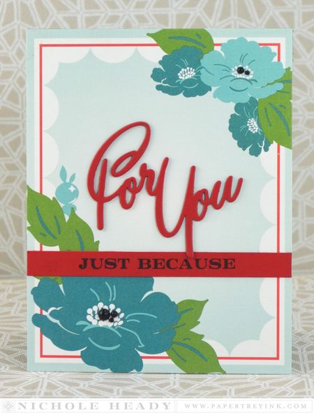 For You Floral Card
