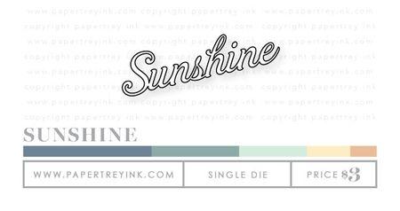 Sunshine-die