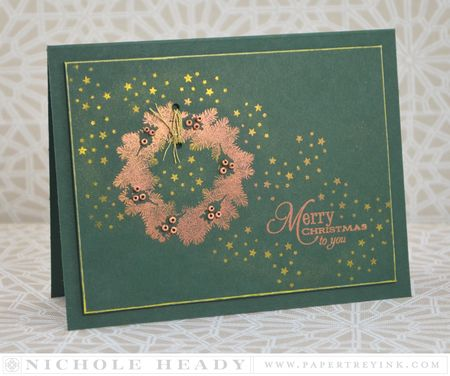 Copper Christmas Card