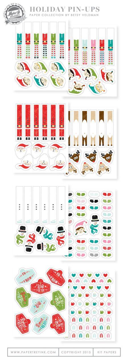 Holiday-Pin-Ups-kit-paper