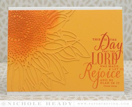 Rejoice Sunflower Card