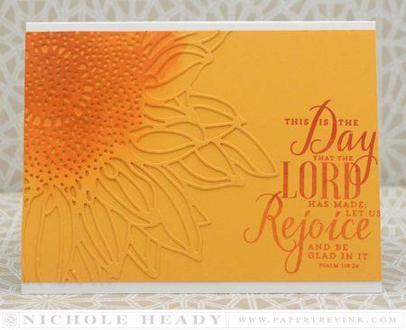 Rejoice Sunflower Card