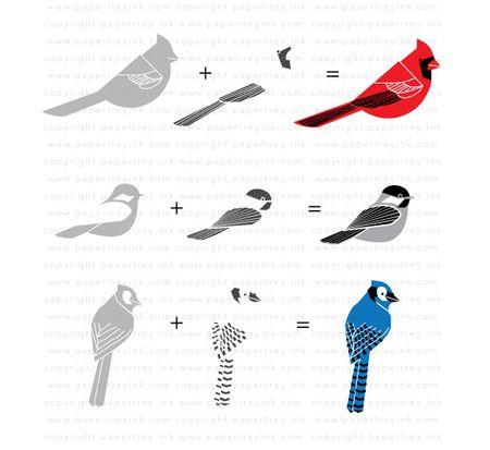 Assembled-birds