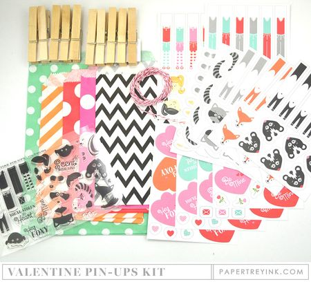Valentine Pin-Ups Kit