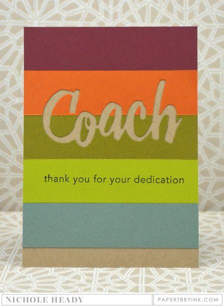 Striped Coach Card