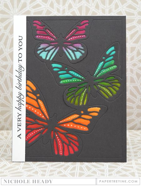 Rainbow Butterfly Birthday Card