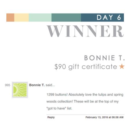Day 6 Bonnie