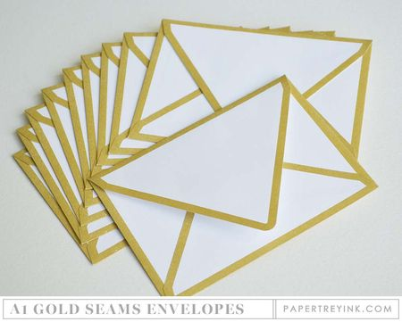 Gold Seams Envelopes
