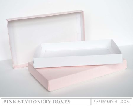 Pink Stationery Boxes