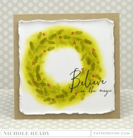 Believe Wreath Card