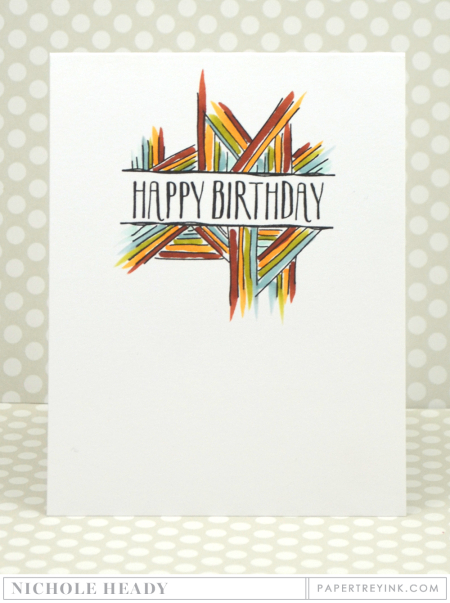 Stripes Birthday Card