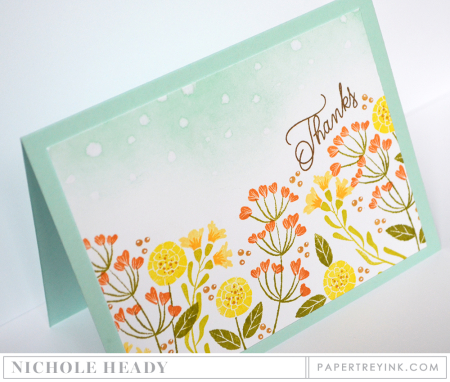 Wildflower Garden Thanks Card