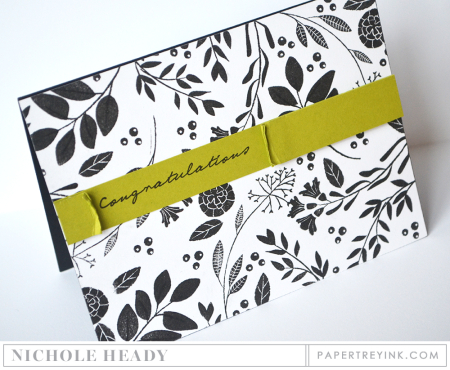 Black & White Congrats Card