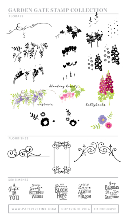 Garden Gate stamp set