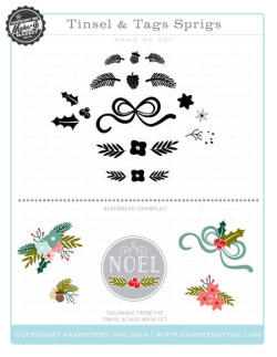 Tinsel & Tags Sprigs stamps