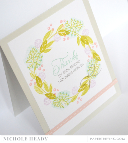 Floral Wreath Thanks Card
