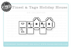 Tinsel & Tags Holiday House die