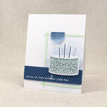 10th Anniversary - Birthday Cake Wishes Card