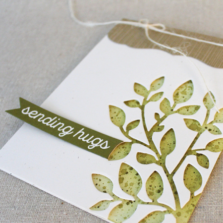 Sending Hugs Branch Card 3