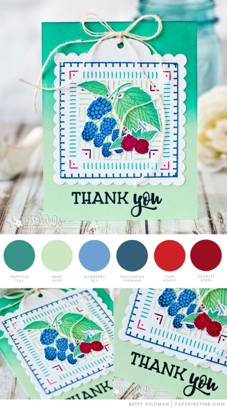 Berry Thank You by Betsy Veldman for Papertrey Ink