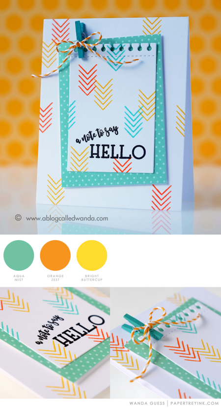 Hello Note by Wanda Guess for Papertrey Ink