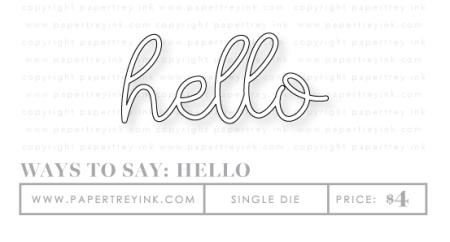 Hello-dies