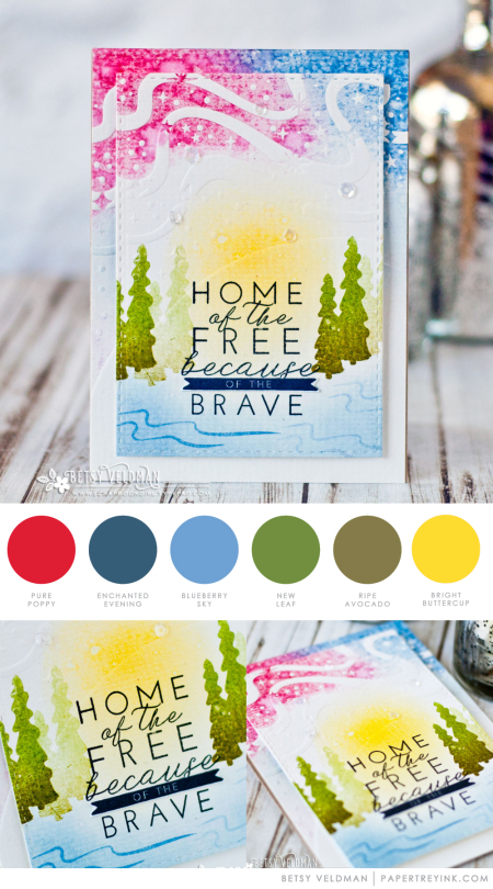 Home of the Free by Betsy Veldman for Papertrey Ink