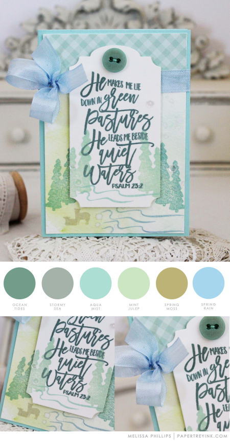 Quiet Waters by Melissa Phillips for Papertrey Ink