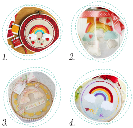Stitched Rainbow Die Round Up