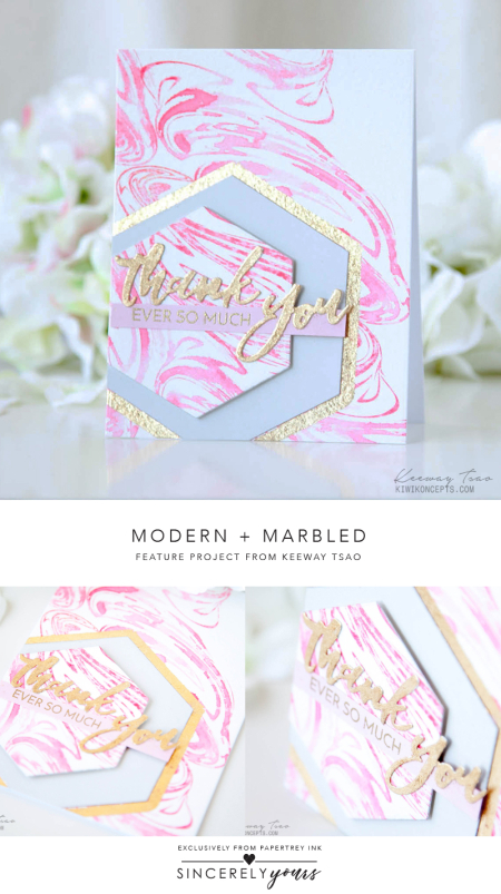 Modern + Marbled by Keeway Tsao for Papertrey Ink