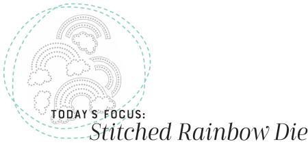 Stitched Rainbow Die Title