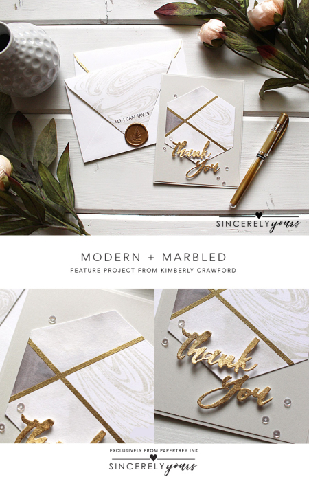 Modern + Marbled by Kimberley Crawford for Papertrey Ink