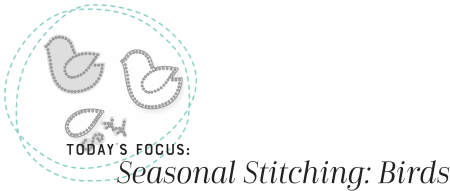 Seasonal Stitching Birds Heading