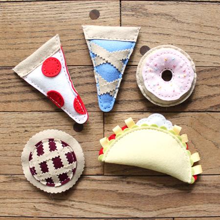 Felt Food Catnip Toys