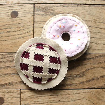 Donut & Pie Catnip Toys