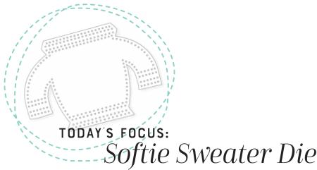 Softie Sweater Die Heading