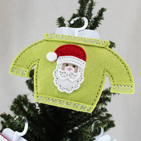 Santa Sweater Gift Card Holder