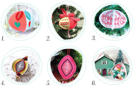 Stitched Ornaments Round Up